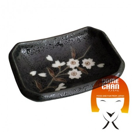 Ciotolina porta salsa di soia antracite - 9x6,5 cm Domechan HEY-82489352 - www.domechan.com - Prodotti Alimentari Giapponesi