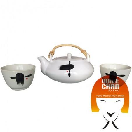 Orientalische Teekanne Set und handgemachte Tassen - Typ II Uniontrade HFY-43468533 - www.domechan.com - Japanisches Essen