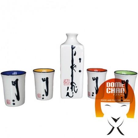 Set sake color - 4 people Uniontrade HQZ-76490037 - www.domechan.com - Japanese Food
