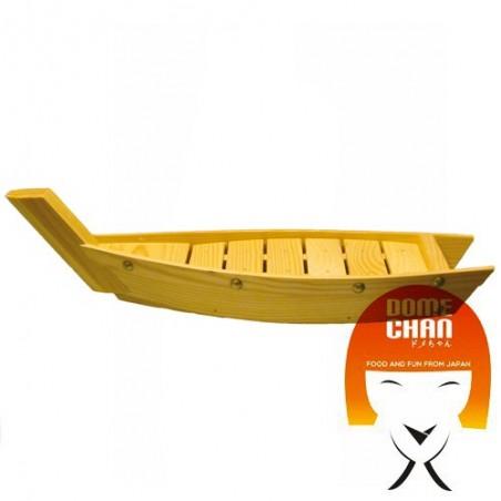 Barca in legno per sushi e sashimi - 44 cm Uniontrade HHW-89537545 - www.domechan.com - Prodotti Alimentari Giapponesi