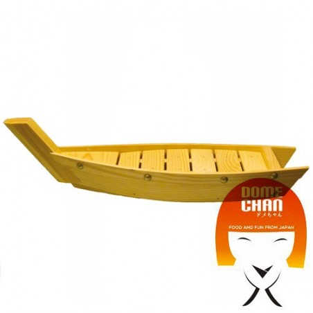 Wooden boat for sushi and sashimi - 44 cm Uniontrade HHW-89537545 - www.domechan.com - Japanese Food