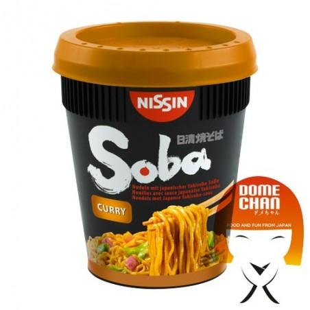 Yakisoba nissin curry taste - 88 g Nissin HYW-54382234 - www.domechan.com - Japanese Food