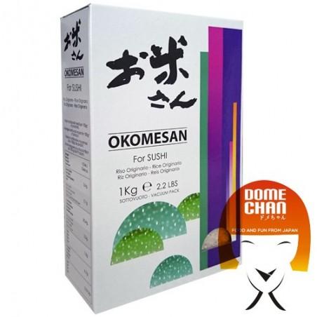 Okomesan Sushi Reis - 1 kg Italpo Enterprise JBY-74534654 - www.domechan.com - Japanisches Essen