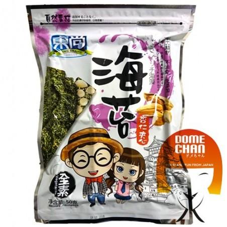 Snack sandwich di alghe e mandorle - 50 g Dong Shang KAW-84397232 - www.domechan.com - Prodotti Alimentari Giapponesi