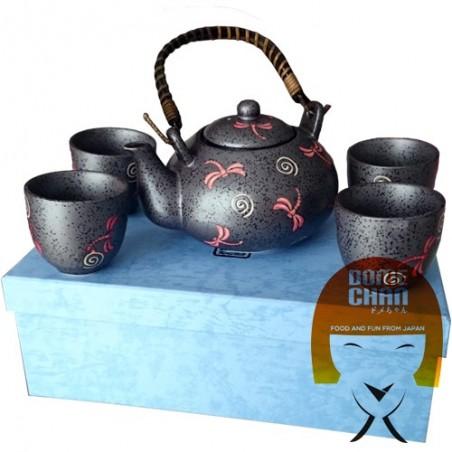 Conjunto oriental tetera y tazas hechas a mano de Tipo IV Uniontrade LHW-82345947 - www.domechan.com - Comida japonesa
