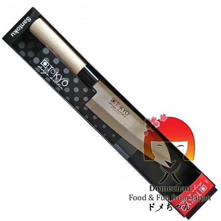 Coltello tokyo design santoku - 16,5 cm Domechan LRM-48455982 - www.domechan.com - Prodotti Alimentari Giapponesi