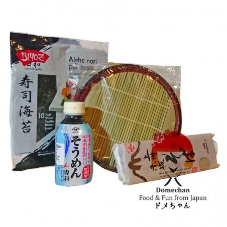 Kit zaru soba - 4 pezzi Domechan  - www.domechan.com - Prodotti Alimentari Giapponesi