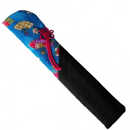 Japanischer Stoff-Fan-Träger - blau und schwarz Typ Domechan MCY-79879668 - www.domechan.com - Japanisches Essen