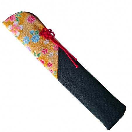 Japanese fabric fan carrier - Yellow and black type Domechan MDW-38824568 - www.domechan.com - Japanese Food