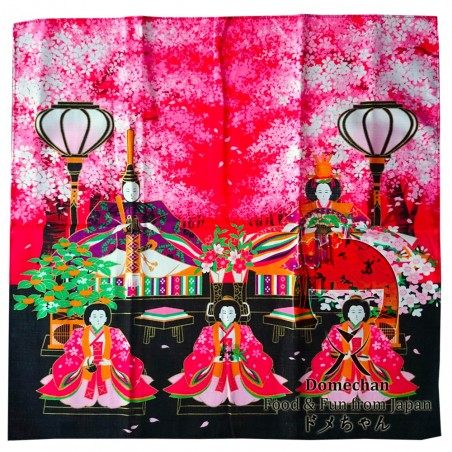 Furoshiki Handkerchief - Type sakura Domechan MGY-38845729 - www.domechan.com - Japanese Food