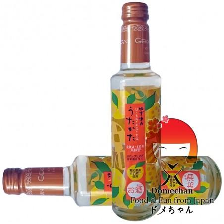 Gekkeikan carbonated sake flavored with yuzu - 285 ml Domechan MLW-99929792 - www.domechan.com - Japanese Food