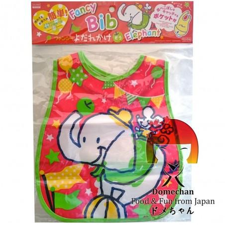 Bavaglia con tasca raccogli briciole - Type Elefante Domechan MSW-88634666 - www.domechan.com - Prodotti Alimentari Giapponesi