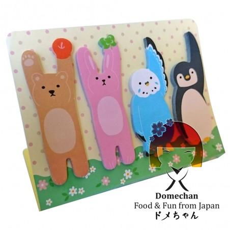 Foglietti adesivi per appunti - Type Animali I Domechan MUY-27382377 - www.domechan.com - Prodotti Alimentari Giapponesi
