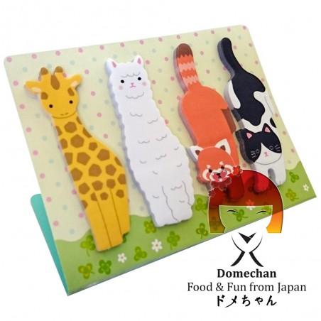 Foglietti adesivi per appunti - Type Animali II Domechan MVG-64843528 - www.domechan.com - Prodotti Alimentari Giapponesi