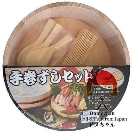 Hangiri ensemble en bois de riz à sushi - 27 cm Uniontrade CWY-58945234 - www.domechan.com - Nourriture japonaise