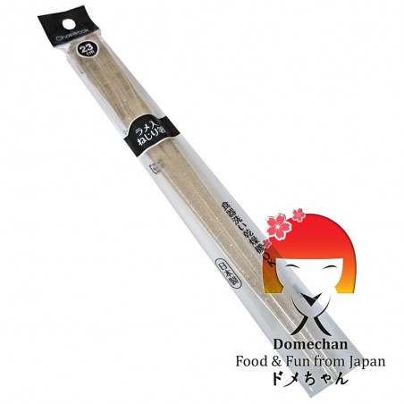 Japanese chopsticks in transparent plastic and gold glitter - 23 cm Domechan NGY-63562629 - www.domechan.com - Japanese Food