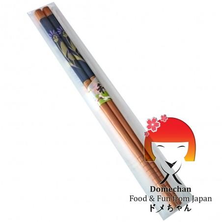 Japanese chopsticks in wooden flower - 22,6 cm Domechan NLY-26376334 - www.domechan.com - Japanese Food