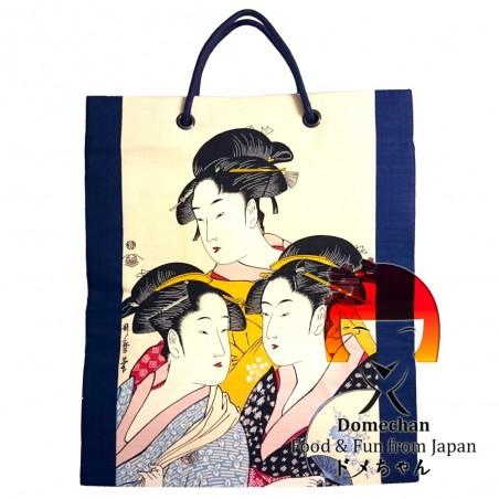 Fabric bag blue Geisha Domechan SSP-49064130 - www.domechan.com - Japanese Food