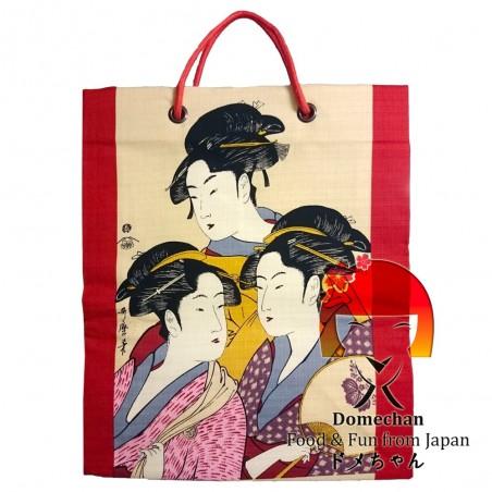 Fabric bag red Geisha Domechan NRM-22384742 - www.domechan.com - Japanese Food