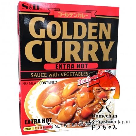 Preparato per curry giapponese golden (ultra piccante) - 230 g S&B NSY-79425999 - www.domechan.com - Prodotti Alimentari Giap...