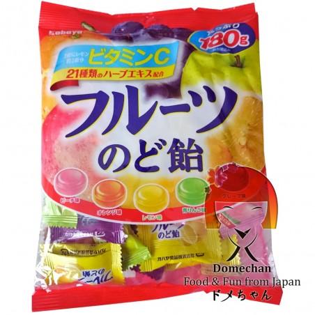 Kabaya fruit candies - 180 g Domechan NZE-84587828 - www.domechan.com - Japanese Food