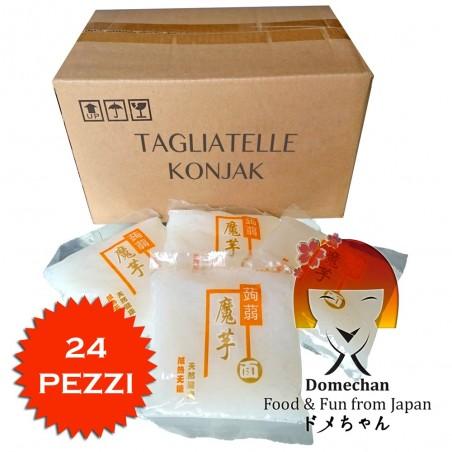Tagliatelle di konjac scatola 24 pezzi - 270 g Domechan 4C-PJ84-XZCK - www.domechan.com - Prodotti Alimentari Giapponesi