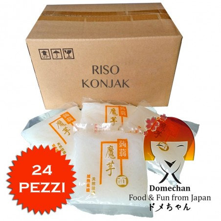 Konjac rice box 24 pieces - 270 g Domechan 48-QDXM-9F6G - www.domechan.com - Japanese Food