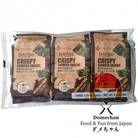 Crispy snack of bibigo seaweed - 3 x 5 g Domechan PHY-86839695 - www.domechan.com - Japanese Food