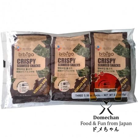 Snack croccante di alghe bibigo - 3 x 5 g Domechan PHY-86839695 - www.domechan.com - Prodotti Alimentari Giapponesi