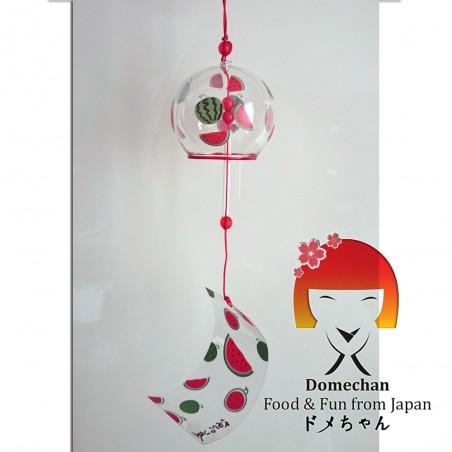 Japanische Furin Glocke - Wassermelonen Grafik Domechan PLW-99375372 - www.domechan.com - Japanisches Essen
