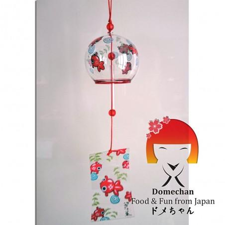 Campanella Furin giapponese - Grafica pesci rossi Domechan PLY-84386445 - www.domechan.com - Prodotti Alimentari Giapponesi