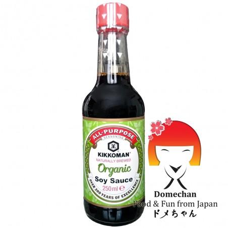 Organic soy sauce kikkoman - 250 ml Domechan PNY-95748339 - www.domechan.com - Japanese Food
