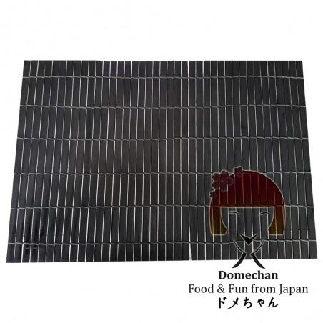 Black bamboo tablecloth - 44.5 X 30 Domechan PUY-49545473 - www.domechan.com - Japanese Food