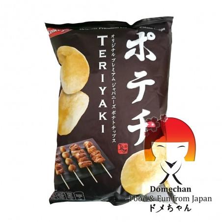 Teriyaki-flavoured chips - 100 g Koikeya Belgium Branch QGW-39843564 - www.domechan.com - Japanese Food