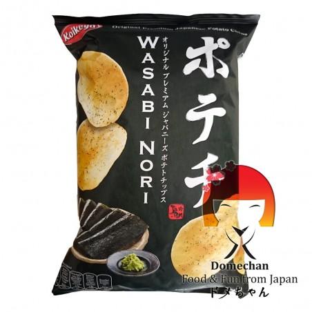 Wasabi nori flavoured chips - 100 g Koikeya Belgium Branch QGY-75292223 - www.domechan.com - Japanese Food