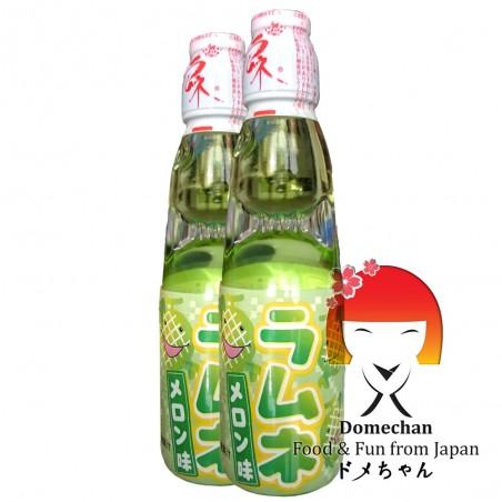 Japanese melon-flavoured lemonade ramune - 200 ml Domechan QHW-44777459 - www.domechan.com - Japanese Food