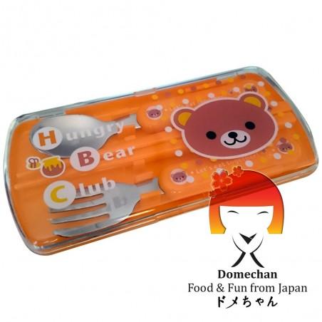 Set posate e bacchette giapponesi per maschietto II Domechan QMW-57655952 - www.domechan.com - Prodotti Alimentari Giapponesi