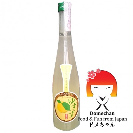 Sake flavored with the yuzu - 500 ml Domechan QMY-47342577 - www.domechan.com - Japanese Food