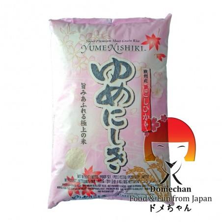 Yume nishiki sushi rice - 5 kg JFC QUW-57225299 - www.domechan.com - Japanese Food
