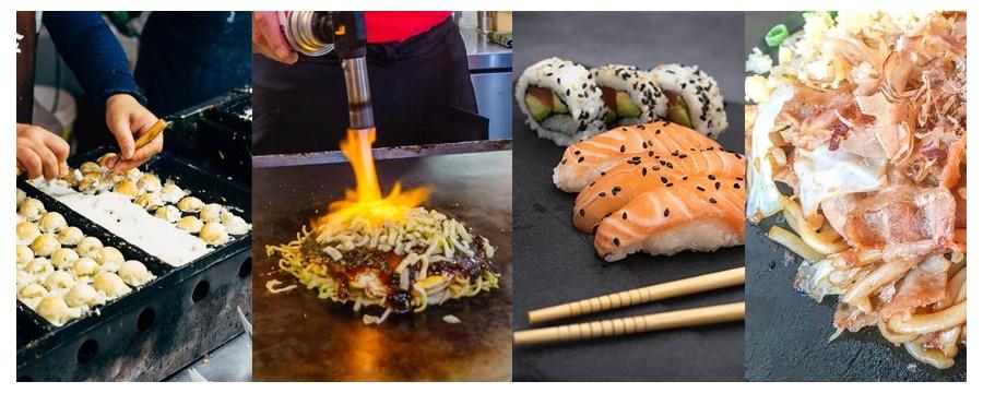 Kit sushi, okonomiyaki, takoyaki, yakisoba